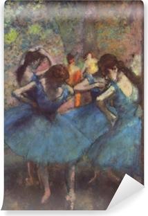 Papier peint vinyle Edgar Degas - Les danseuses bleues