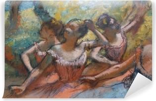 Papier peint vinyle Edgar Degas - Quatre danseurs sur scène