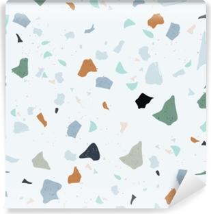 Papier peint vinyle Ensemble de beau modèle sans couture terrazzo: illustration vectorielle