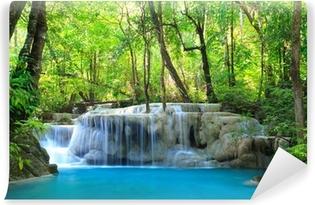 Papier peint vinyle Erawan Waterfall, Kanchanaburi, Thaïlande