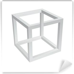 Papier peint vinyle Escher Cube