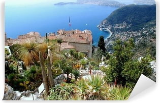 Papier peint vinyle Eze, site touristique de renom sur la Riviera française
