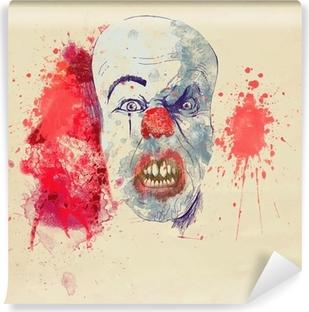 Papier peint vinyle Fantasmagorique de Halloween de clown