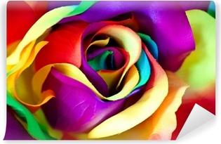 Papier peint vinyle Faux fleur rose