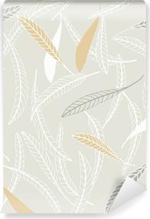 Papier peint vinyle Feuilles plumes II