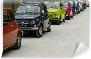Papier peint vinyle Fiat 500 rallye