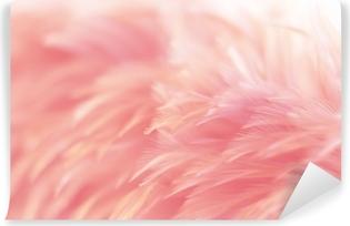 Papier peint vinyle Flou texture de plumes de poulets oiseaux pour la couleur de fond, fantaisie, abstraite, de la conception de l'art.