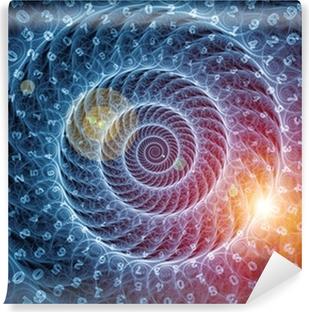 Papier peint vinyle Fond en spirale