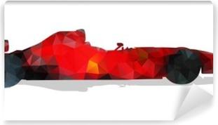 Papier peint vinyle Formule voiture de course. Rouge géométrique abstrait illustration vectorielle.