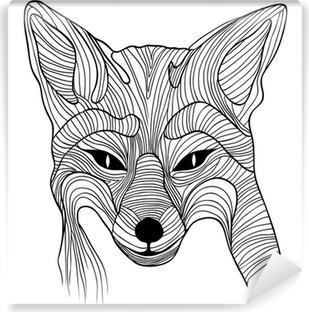 Papier peint vinyle Fox symbole de croquis animal