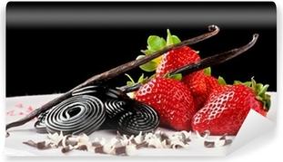 Papier peint vinyle Fraise, réglisse, vanille et chocolat