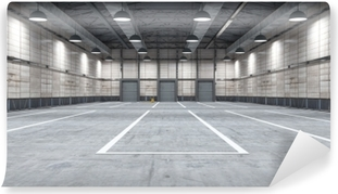 Papier peint vinyle Grand entrepôt moderne avec des marchandises