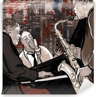 Papier peint vinyle Groupe de jazz