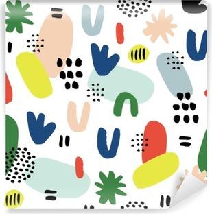 Papier peint vinyle Hand drawn seamless pattern dans un style moderne. Design for affiche, carte, invitation, affiche, brochure, flyer, textile.