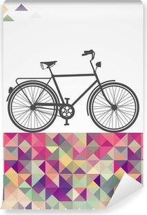 Papier peint vinyle Hipsters rétro vélo éléments géométriques.