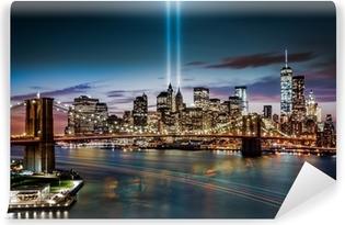 Papier peint vinyle Hommage au Mémorial Lumière le 11 Septembre, 2014