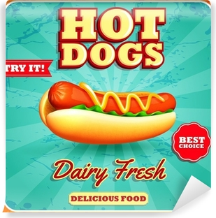 Papier peint vinyle Hot Dogs