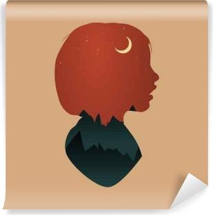 Papier peint vinyle Human Mindset Thinking Aspiration Imagination Concept