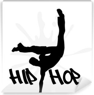 Papier peint vinyle Icône danseur de hip-hop