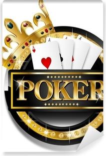Papier peint vinyle Icône poker