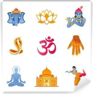 Papier peint vinyle Icônes spirituelles, religieuses et de la culture de l'Inde