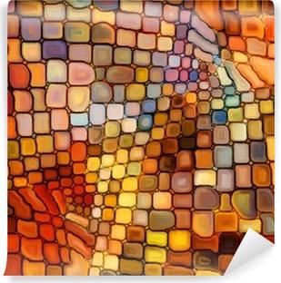 Papier Peint Vinyle Illusion du Vitrail