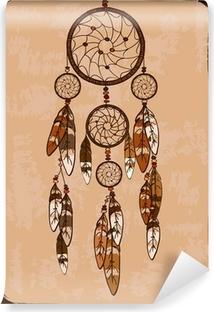 Papier peint vinyle Illustration avec dreamcatcher tribal