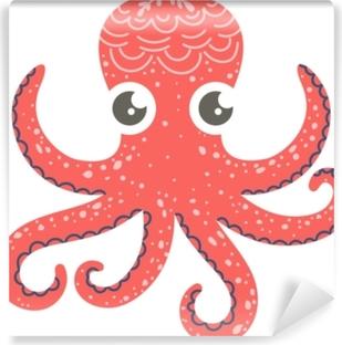 Papier peint vinyle Illustration mignonne de pieuvre pour décor de crèche, estampes et affiches, illustration de style doodle. vecteur