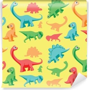Papier peint vinyle Illustration vectorielle de dinosaures papier peint 1
