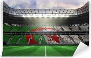 Papier peint vinyle Image composite de drapeau algérien