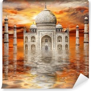 Papier Peint Vinyle Incroyable Inde - Tadj Mahal au coucher du soleil