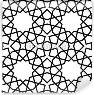 Papier Peint Carrelage Arabesque Noir et Blanc • Pixers® - Nous ...