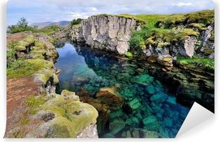 Papier peint vinyle Islande - Parc National de Thingvellir