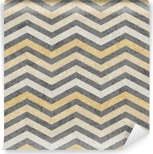 Papier peint vinyle Jaune et gris Zigzag tissu texturé fond