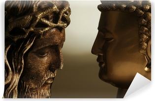 Papier peint vinyle Jésus Christ y Buda - 3