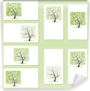 Papier Peint Autocollant Jeu De Cartes Visite Des Arbres Fleuris Pour Votre Conception