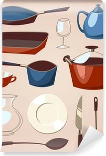 Papier peint vinyle Jeu de table. série des ménages.