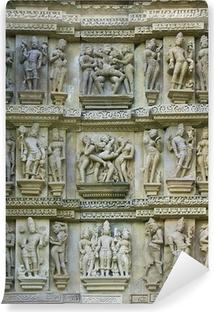 Papier peint vinyle Kamasutra, Temples de Khajuraho, Madhya Pradesh, en Inde