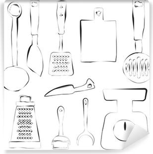 Papier peint vinyle Kitchen utensils