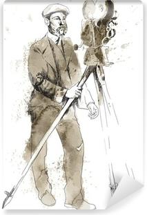 Papier peint vinyle L'histoire du film: L'homme derrière la caméra
