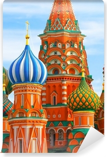 Papier peint vinyle La place la plus célèbre de Moscou, Cathédrale Saint-Basile, Russie