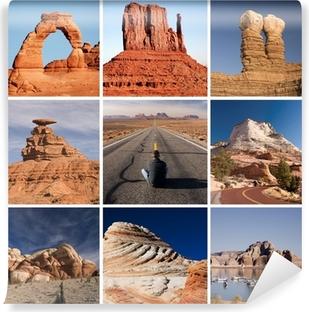 Papier peint vinyle La route de l'Arizona et de l'Utah