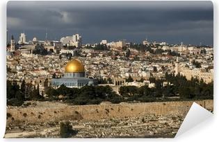 Papier peint vinyle La ville sainte de Jérusalem d'Israël