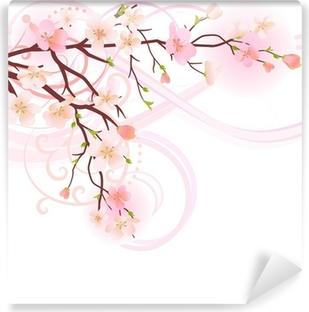 Papier peint lavable Blossoming élément de conception d'arbre