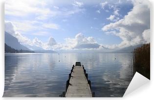 Papier peint lavable Calme, vue sur le lac d'Annecy