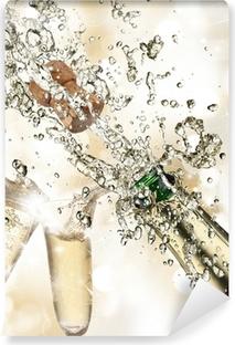 Papier peint lavable Close-up de champagne explosion