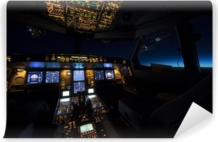 Papier peint lavable Cockpit d'avions au lever ou au coucher du soleil