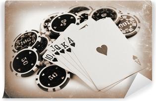 Papier peint lavable Concept de poker millésime