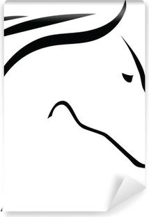 Papier peint lavable Contour de cheval