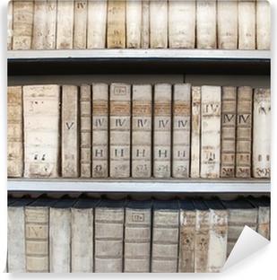 Poster Etageres De La Bibliotheque Avec De Vieux Livres De Medecine